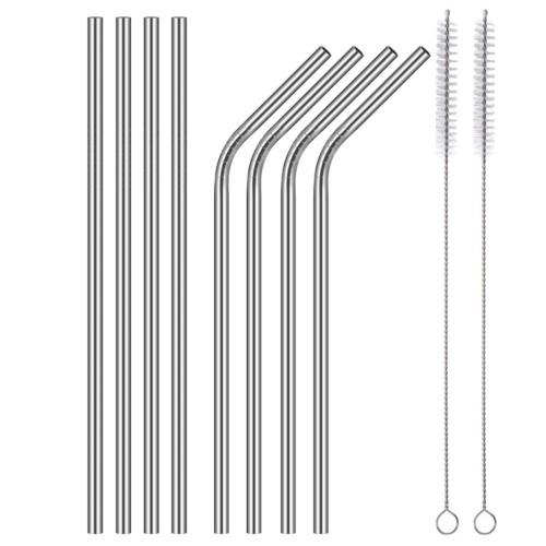 Метални сламки за многократна употреба, 8 броя