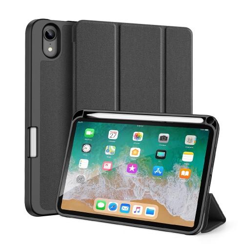 Кожен, черен калъф - стойка за iPad mini (6th gen)