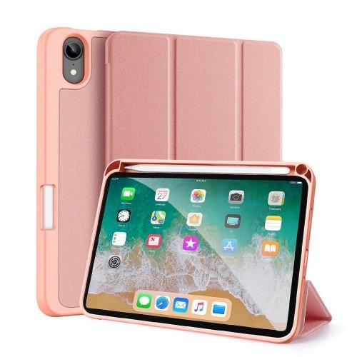 Кожен, розов калъф - стойка за iPad mini (6th gen)