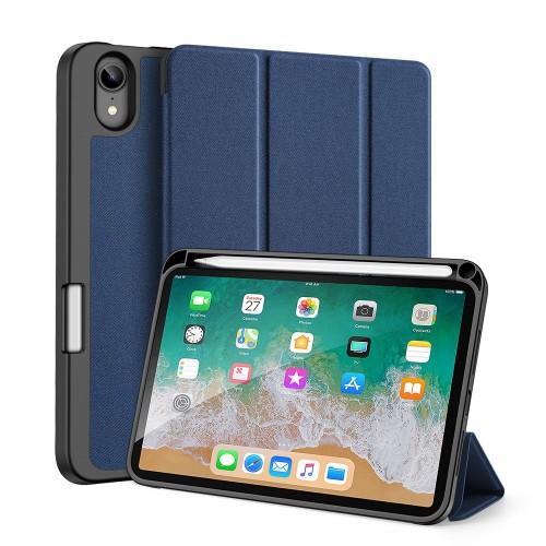 Кожен, син калъф - стойка за iPad mini (6th gen)