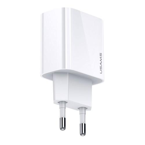 Пластмасов, бял, 20W PD Quick Charge, USB Type-C адаптер за зареждане