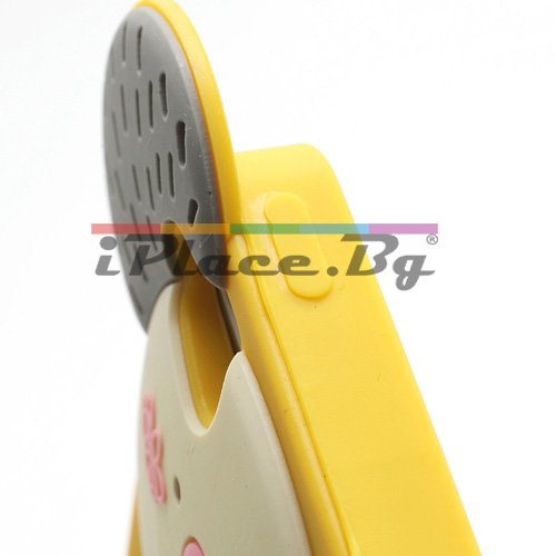 Силиконов, жълт калъф - коала за iPhone 5/5S/SE