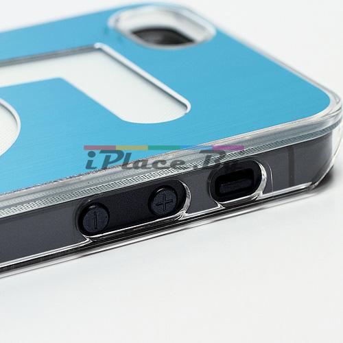 Метален, син панел - петица за iPhone 5/5S/SE