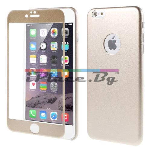 Стъклен, защитен екран за дисплей - златист, извит с ултра тънък панел за iPhone 6/6S