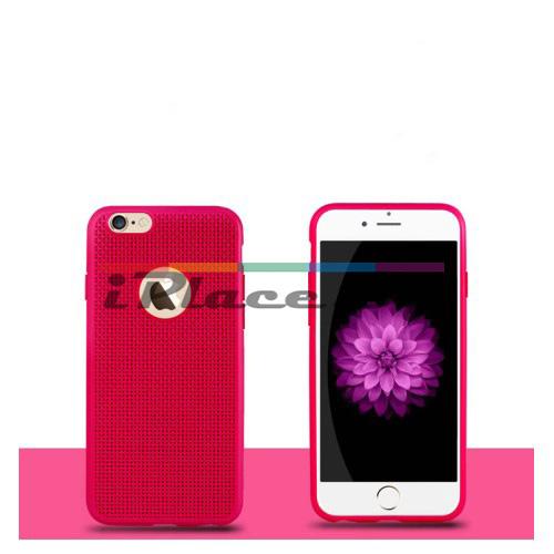 Силиконов, червен панел - перфориран за iPhone 6/6S