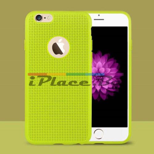 Силиконов, зелен панел - перфориран за iPhone 6/6S