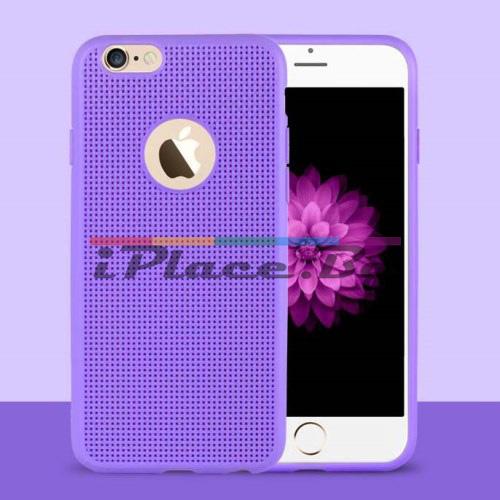 Силиконов, лилав панел - перфориран за iPhone 6/6S