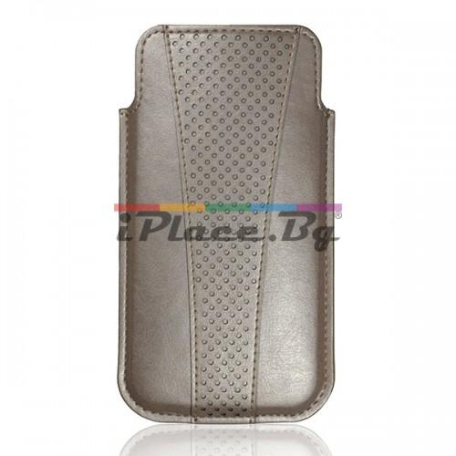 Кожен, златист калъф за iPhone 6/6S