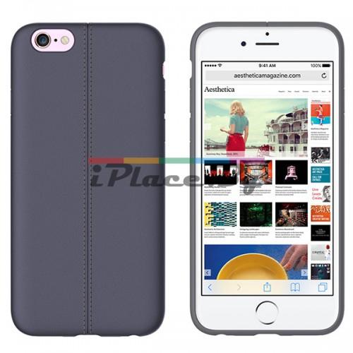 Кожен, сив калъф - тънък за iPhone 6/6S
