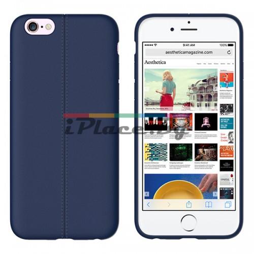 Кожен, син калъф - тънък за iPhone 6/6S