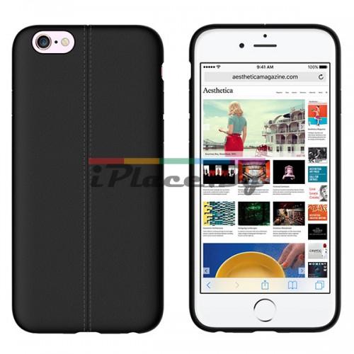 Кожен, черен калъф - тънък за iPhone 6/6S
