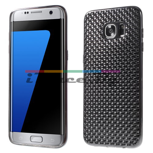 Силиконов, черен панел - перфориран за Samsung Galaxy S7 Edge