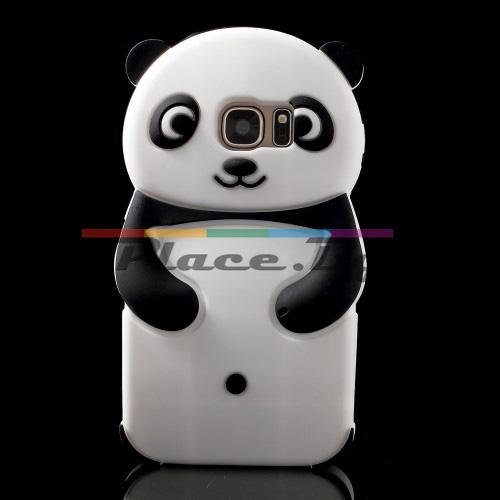 Силиконов, бял калъф - панда за Samsung Galaxy S7