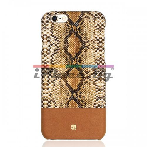 Кожен, кафяв панел - змийска кожа за iPhone 6/6S