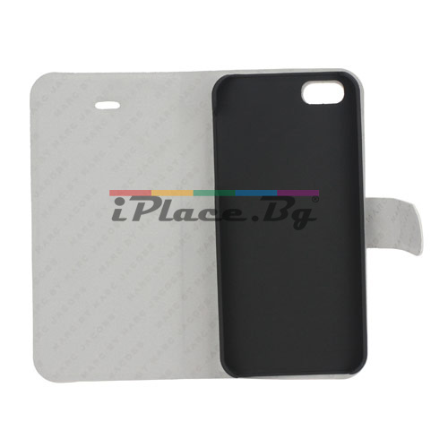 Кожен калъф - сърца за iPhone 5/5S/SE