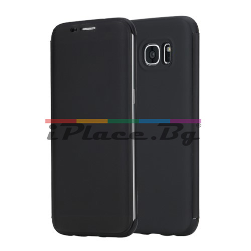 Пластмасов, черен калъф - предпазен капак за Samsung Galaxy S7 Edge