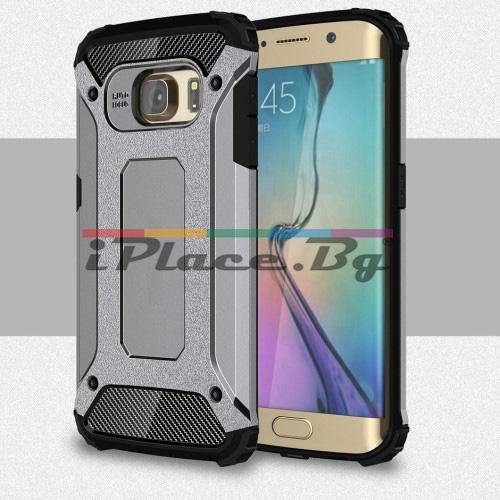 Силиконов, сив калъф - удароустойчив за Samsung Galaxy S6 Edge