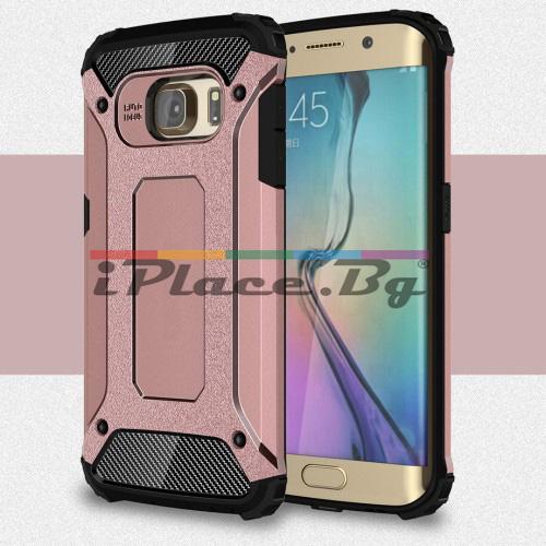Силиконов, златист (rose gold) калъф - удароустойчив за Samsung Galaxy S6 Edge
