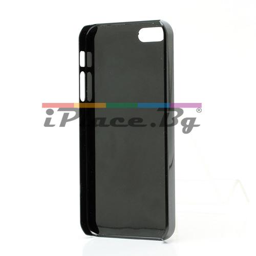 Пластмасов, черен панел с шипове за iPhone 5/5S/SE