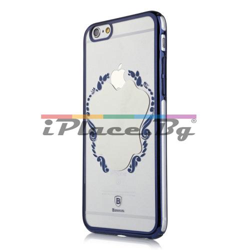 Пластмасов, син панел - огледало, ултра тънък за iPhone 6 Plus/iPhone 6S Plus