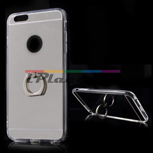 Силиконов, сребрист панел - огледало, ултра тънък за iPhone 6/6S