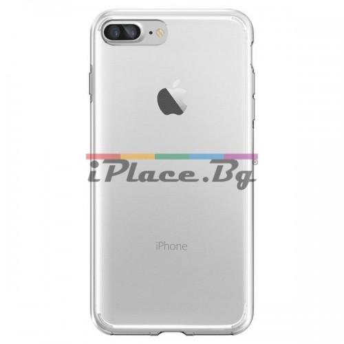 Силиконов, прозрачен калъф - ултра тънък за iPhone 7 Plus/iPhone 8 Plus