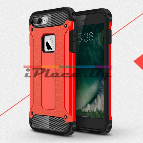 Силиконов, червен калъф - удароустойчив за iPhone 7 Plus