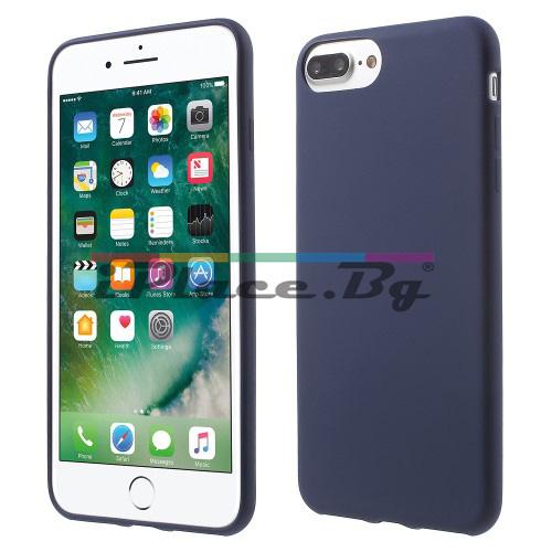 Силиконов, син калъф - тънък за iPhone 7 Plus/iPhone 8 Plus