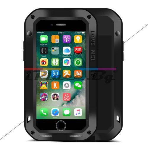 Метален, черен, удароустойчив панел за iPhone 7/iPhone 8