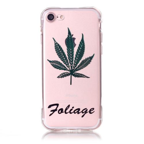 Силиконов, прозрачен калъф - Foliage за iPhone 7/iPhone 8