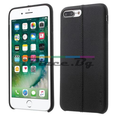 Кожен, черен калъф - ултра тънък за iPhone 7 Plus/iPhone 8 Plus