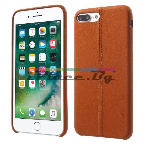 Кожен, кафяв калъф - ултра тънък за iPhone 7 Plus/iPhone 8 Plus