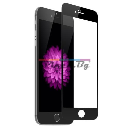 Стъклен, защитен екран за дисплей - черен, извит за iPhone 7/iPhone 8