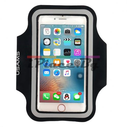 Силиконов, черен калъф за спорт за iPhone 6/6S/7