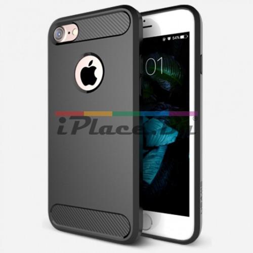 Силиконов, черен калъф за iPhone 7