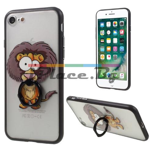 Силиконов, прозрачен калъф - лъв за iPhone 7/iPhone 8