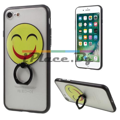 Силиконов, прозрачен калъф - Emoticon за iPhone 7/iPhone 8