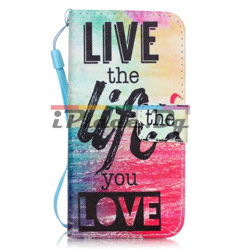 Кожен, син калъф - Live the Life You Love за iPhone 7/iPhone 8