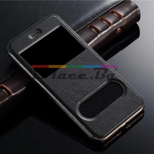 Кожен, черен калъф - отвори за iPhone 7 Plus/iPhone 8 Plus