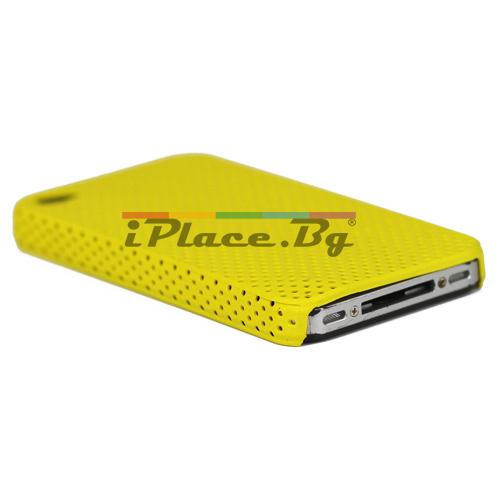 Пластмасов, жълт панел - перфориран за iPhone 4/4S