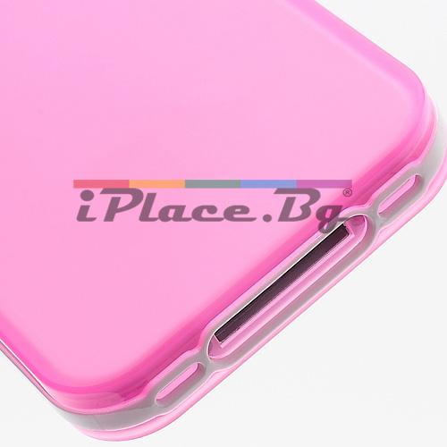 Силиконов, розов калъф за iPhone 4/4S