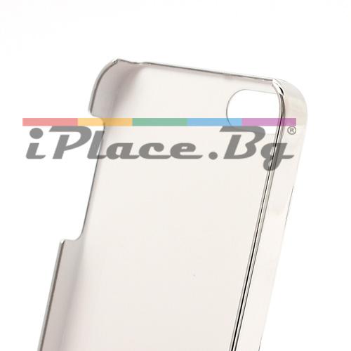 Пластмасов, черен панел - черепи за iPhone 5/5S/SE
