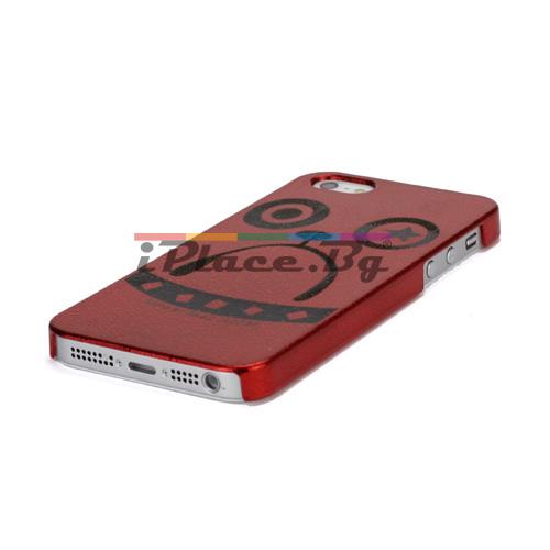 Пластмасов, червен панел - куче за iPhone 5/5S/SE