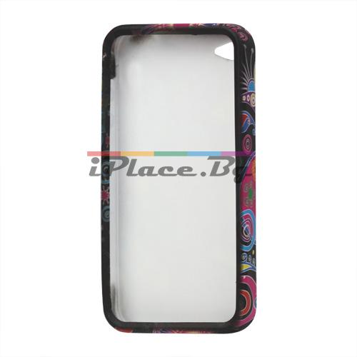 Силиконов, многоцветен калъф - морско дъно за iPhone 4/4S
