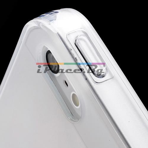Силиконов, прозрачен калъф - тънък за iPhone 5/5S/SE