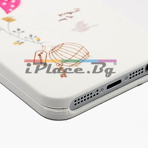 Пластмасов, бял панел - панделка за iPhone 5/5S/SE