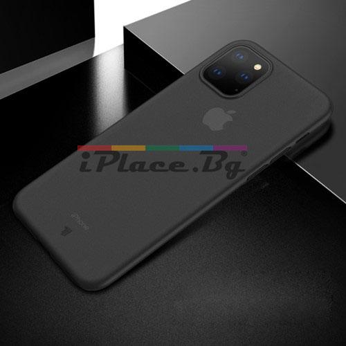 Пластмасов, черен панел - ултра тънък за iPhone 11 Pro
