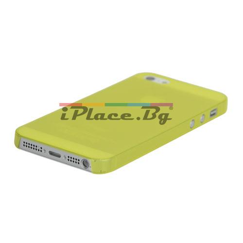 Пластмасов, жълт панел - ултра тънък за iPhone 5/5S/SE
