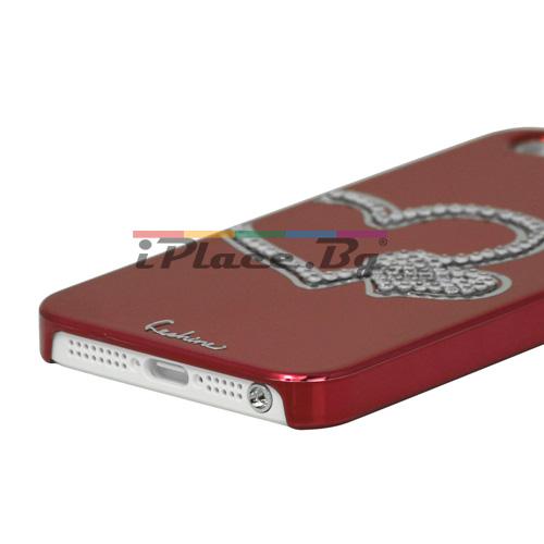 Пластмасов, червен панел - сърце за iPhone 5/5S/SE