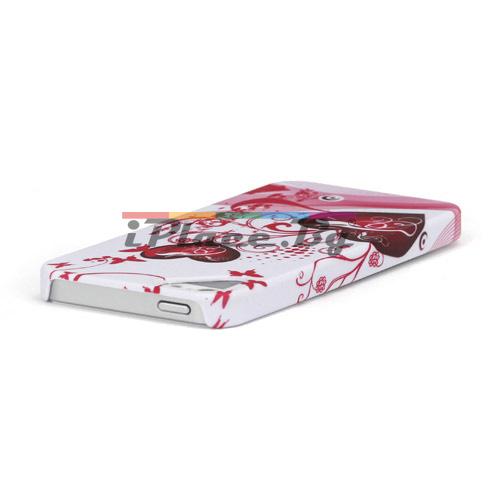 Пластмасов, бял панел - сърца за iPhone 5/5S/SE